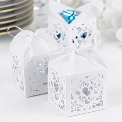 White Decorative Favor Boxes