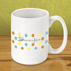 Personalized Dots Coffee Mug