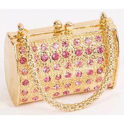 Pink Crystal Purse Trinket Box