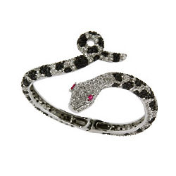 Black and White CZ Python Bracelet