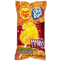 Chupa Chups Mango Chili Dips Clip Strip Candies