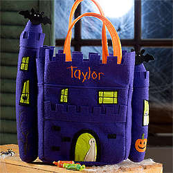 Personalized Haunted Castle Trick or Treat Bag