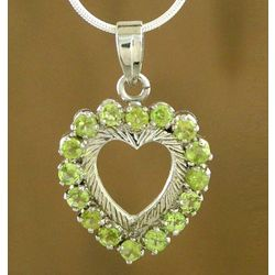 Verdant Heart Peridot Necklace