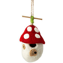 Felt Mushroom Birdhouse