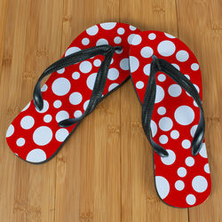 Red Polka Dot Beacher Sandals