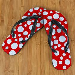 Red Polka Dot Beacher Sandals