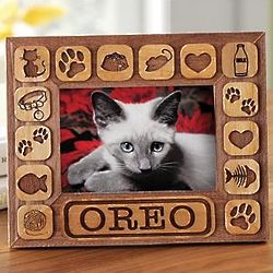Personalized Pet Burnout 5x7 Cat Frame