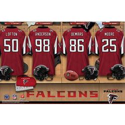 Personalized Atlanta Falcons 24x36 Locker Room Canvas