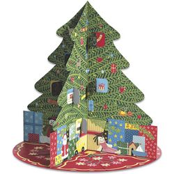 Three-Dimensional Christmas Tree Advent Calendar