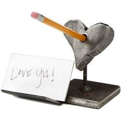 Shot to the Heart Note and Pen Holder