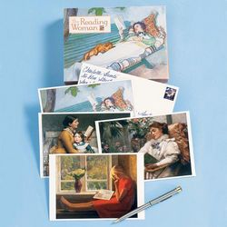 Reading Woman Note Cards