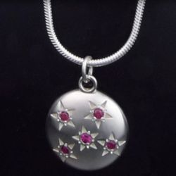 Five Ruby Starry Sky Necklace
