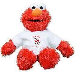 Personalized Candy Cane Plush Elmo Stuffed Animal