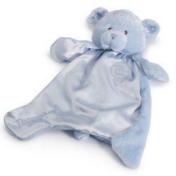 Baby's First Blue Teddy Bear Blanket