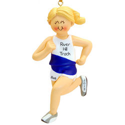 Runner, Jogger or Track Blonde Female Ornament