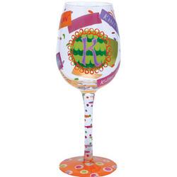 """""""K"""" Wine Glass"""
