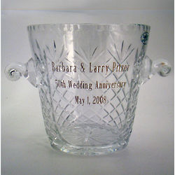 Engravable Crystal Champagne Ice Bucket