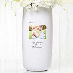 Photo Sentiments Personalized Wedding Vase