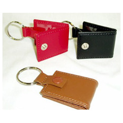 Mini Photo Leather Keychain