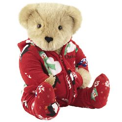 Winter Whimsy Hoodie Footie Teddy Bear