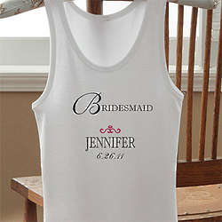 Personalized Bridal Party Tank Top
