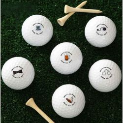 Groom's Last Round Personalized Wedding Golf Balls