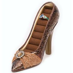 Brown Snakeskin Shoe Ring Holder