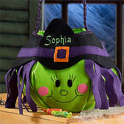 Personalized Witch Trick or Treat Bag