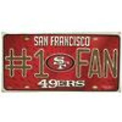 San Francisco 49ers Number One Fan License Plate