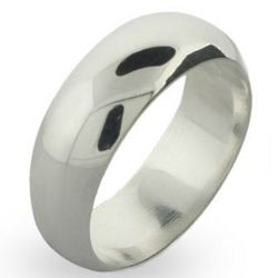 Classic 8mm Sterling Silver Wedding Band