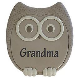 Large Personalized Owl Stepping Stone