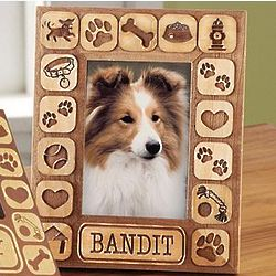 Personalized Pet Burnout 5x7 Dog Frame