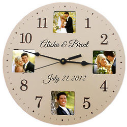 Personalized Ivory Colored Photo Clock