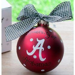 University of Alabama Logo Ornament