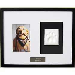 Personalized Paw Print Pet Memorial Frame