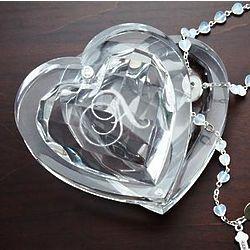 Personalized Acrylic Heart Rosary Box