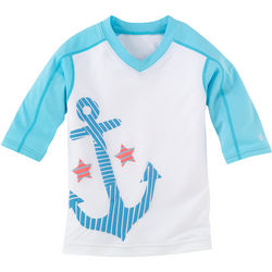 Girl's Anchor Rash Guard UPF Short Sleeve Shirt