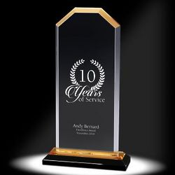 Custom Gold Cornerstone Reflection Acrylic Award