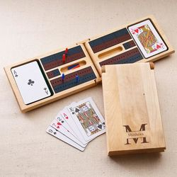 Stamped Monogram Cribbage Game
