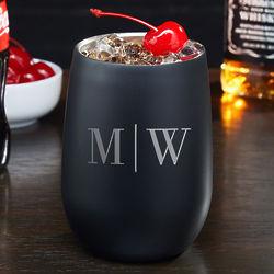 Quinton Blackout Personalized Cocktail Tumbler
