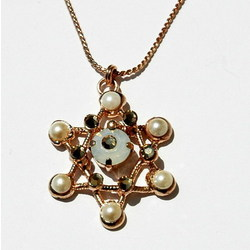 Pearl Star of David Necklace