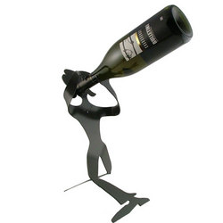 Standing Girl Wine Holder