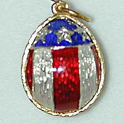 Russian American Stars and Stripes Egg Charm/Pendant