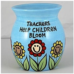 Teachers Help Children Bloom Vase