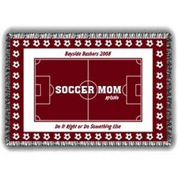 Mom's Personalized Soccer Afghan