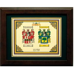 Personalized Coat of Arms Anniversary Matted & Framed Print