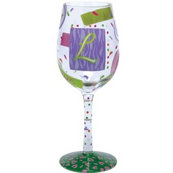 """""""L"""" Wine Glass"""