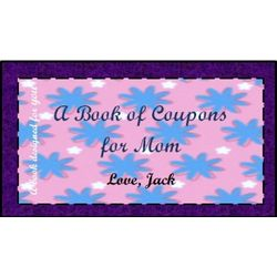 Personalized Mom Coupon Book