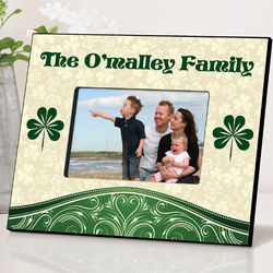 Personalized Cream and Clover Picture Frame
