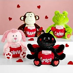 Personalized Valentine Plush Pocket Pet Stuffed Animal